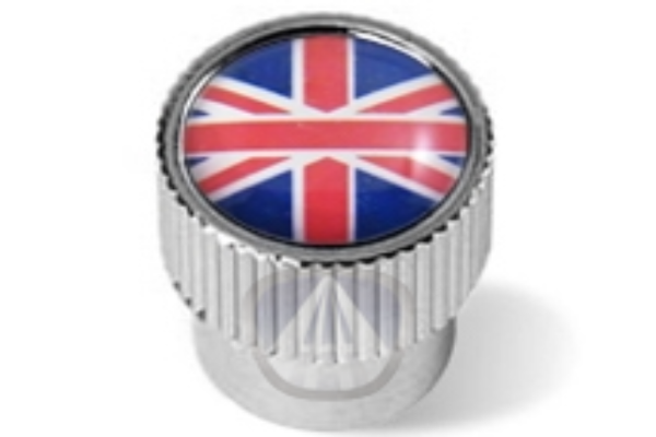 Jaguar Valve Stem Caps - Union Jack